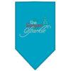 Doggy Stylz Dog-products New! Turquoise / Small Tis The Season To Sparkle Rhinestone Bandana