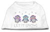 Doggy Stylz Dog-products Holiday Pet Products White / Extra Small Let It Snow Penguins Rhinestone Shirt