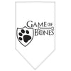 Doggy Stylz Dog-products General White / Large Game Of Bones Screen Print Bandana