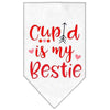 Doggy Stylz Dog-products New White / Large Cupid Is My Bestie Screen Print Bandana