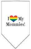Doggy Stylz Dog-products New White / Large I Heart My Mommies Screen Print Bandana