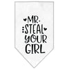 Doggy Stylz Dog-products New White / Large Mr. Steal Your Girl Screen Print Bandana