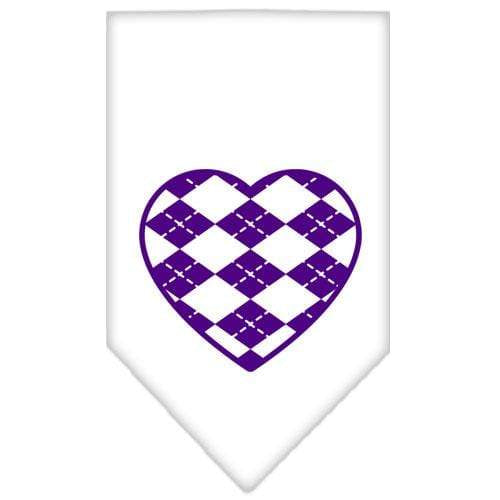 Doggy Stylz Dog-products Dog Bandanas Cocoa / Small Argyle Heart Purple Screen Print Bandana