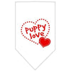 Doggy Stylz Dog-products Dog Bandanas White / Small Puppy Love Screen Print Bandana