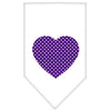 Doggy Stylz Dog-products Dog Bandanas White / Small Purple Swiss Dot Heart Screen Print Bandana