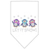 Doggy Stylz Dog-products Holiday Pet Products white / Small Let It Snow Penguins Rhinestone Bandana
