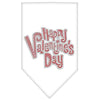 Doggy Stylz Dog-products New Pet Products White / Small Happy Valentines Day Rhinestone Bandana