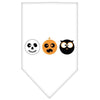Doggy Stylz Dog-products New! White / Small The Spook Trio Screen Print Bandana