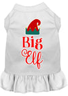 Doggy Stylz Dog-products New White / XXL Big Elf Screen Print Dog Dress