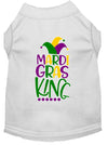 Doggy Stylz Dog-products New White / XXL Mardi Gras King Screen Print Mardi Gras Dog Shirt