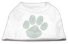 Doggy Stylz Dog-products Dog Shirts White / XXXL Green Paw Rhinestud Shirts White