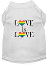 Doggy Stylz Dog-products New White / XXXL Love Is Love Screen Print Dog Shirt