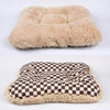 "Doggy Stylz Dog-products X SMALL APPROX 18""-20"" Square Windsor Big Check Bed with Camel Shag"