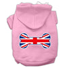 Doggy Stylz Dog-products Pet Apparel XXL / Light Pink Bone Shaped United Kingdom (union Jack) Flag Screen Print Pet Hoodies
