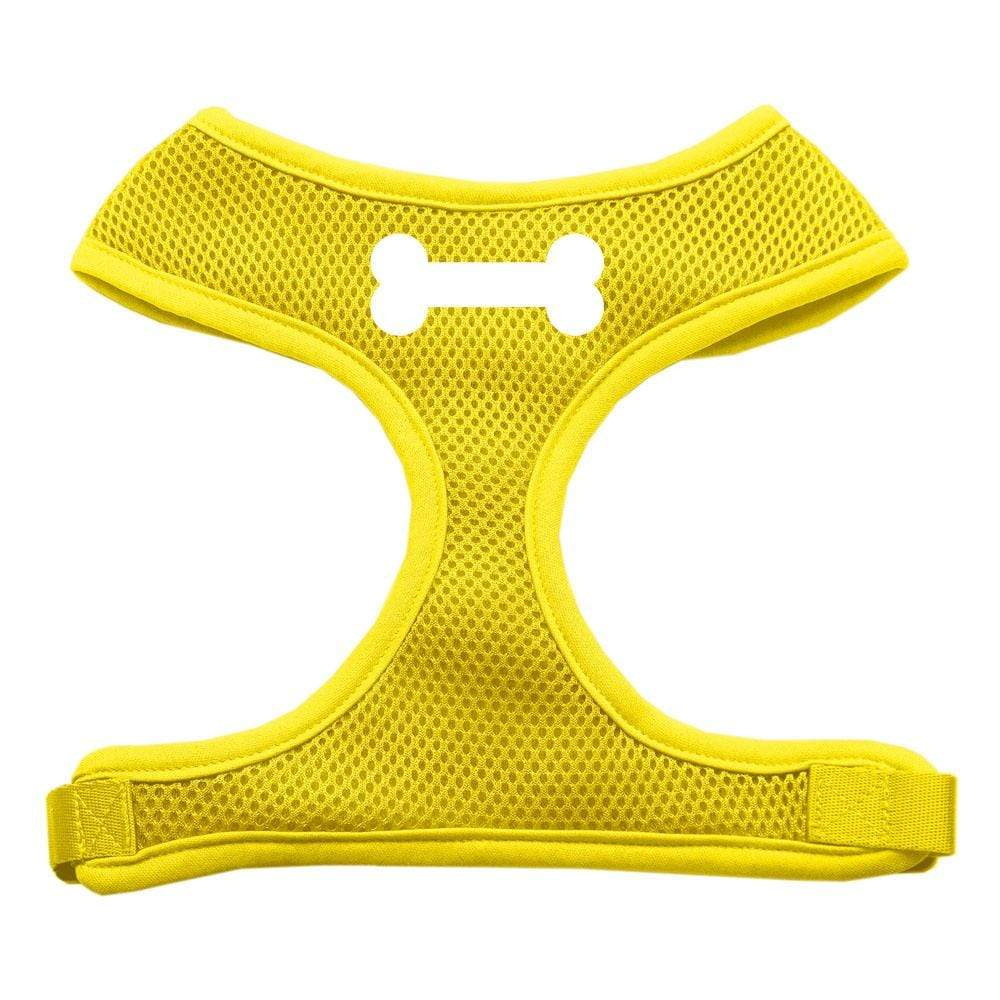 Doggy Stylz Dog-products Pet Harnesses Yellow / Extra Large Bone Design Soft Mesh Harnesses