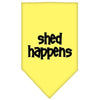 Doggy Stylz Dog-products Dog Bandanas Yellow / Large Shed Happens Screen Print Bandana
