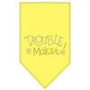 Doggy Stylz Dog-products Dog Bandanas Yellow / Large Trouble Maker Rhinestone Bandana