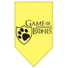 Doggy Stylz Dog-products General Yellow / Large Game Of Bones Screen Print Bandana