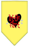 Doggy Stylz Dog-products New Yellow / Large Little Flirt Screen Print Bandana