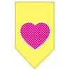 Doggy Stylz Dog-products New Pet Products Yellow / Large Pink Swiss Dot Heart Screen Print Bandana