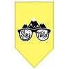 Doggy Stylz Dog-products New! Yellow / Large Stay Wild Screen Print Bandana
