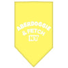 Doggy Stylz Dog-products Dog Bandanas Yellow / Small Aberdoggie Ny Screen Print Bandana