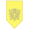 Doggy Stylz Dog-products Dog Bandanas Yellow / Small Fleur De Lis Shield Rhinestone Bandana