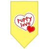 Doggy Stylz Dog-products Dog Bandanas Yellow / Small Puppy Love Screen Print Bandana