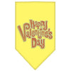 Doggy Stylz Dog-products New Pet Products Yellow / Small Happy Valentines Day Rhinestone Bandana