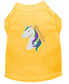 Doggy Stylz Dog-products Unicorns! Yellow / XXL Unicorns Rock Embroidered Dog Shirt Aqua