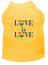 Doggy Stylz Dog-products New Yellow / XXXL Love Is Love Screen Print Dog Shirt