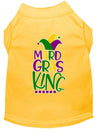 Doggy Stylz Dog-products New Yellow / XXXL Mardi Gras King Screen Print Mardi Gras Dog Shirt