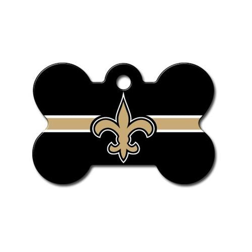 New Orleans Saints Bone Id Tag