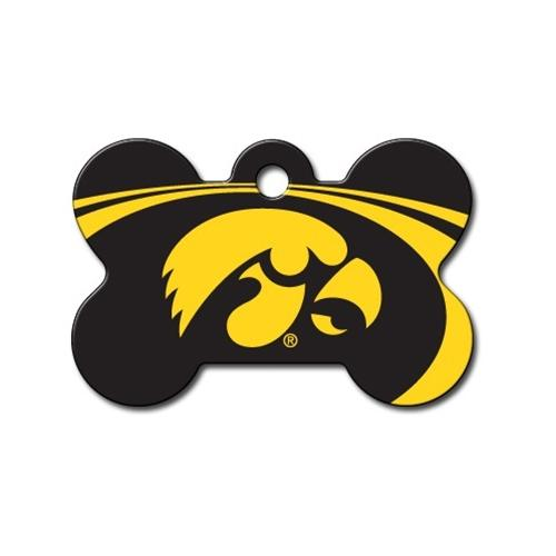 Iowa Hawkeyes Bone Id Tag