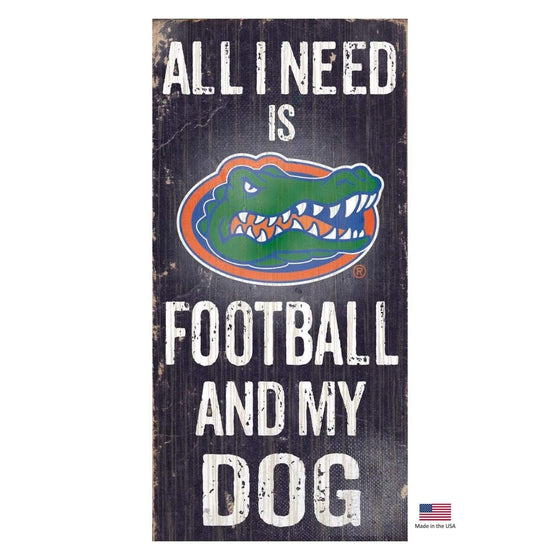 Fan Creations Dog-products NCAA Florida Gators Distressed Football And My Dog Sign