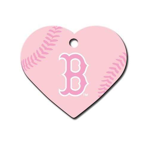 Hillman Group Dog-products MLB Boston Red Sox Heart Id Tag