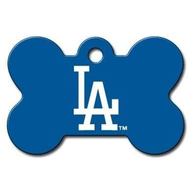 Hillman Group Dog-products MLB Los Angeles Dodgers Bone Id Tag