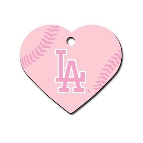 Hillman Group Dog-products MLB Los Angeles Dodgers Heart Id Tag
