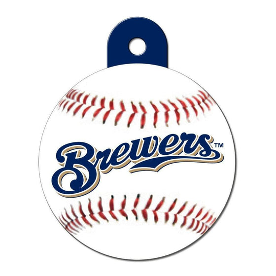 Hillman Group Dog-products MLB Milwaukee Brewers Circle Id Tag