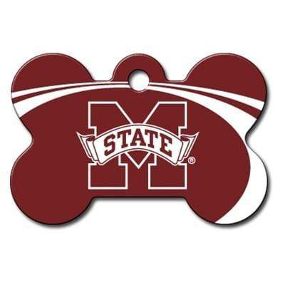 Hillman Group Dog-products NCAA Mississippi State Bulldogs Bone Id Tag