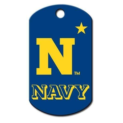 Hillman Group Dog-products NCAA Navy Midshipmen Military Id Tag