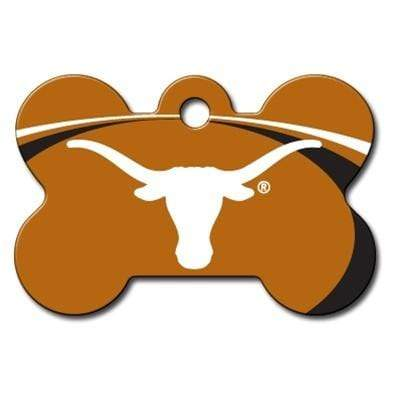 Hillman Group Dog-products NCAA Texas Longhorns Bone Id Tag
