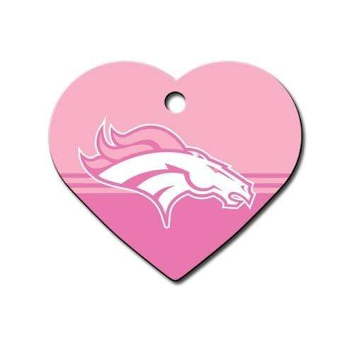 Hillman Group Dog-products NFL Denver Broncos Heart Id Tag
