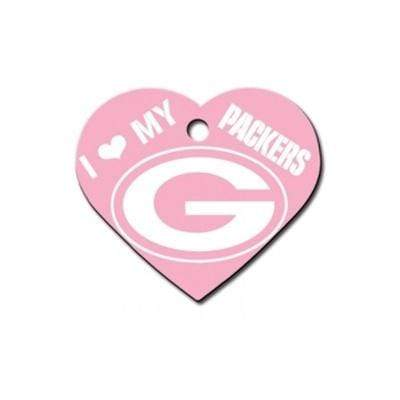 Hillman Group Dog-products NFL Green Bay Packers Heart Id Tag