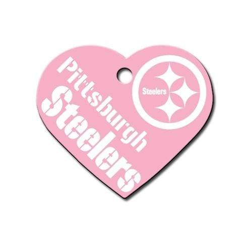 Hillman Group Dog-products NFL Pittsburgh Steelers Heart Id Tag