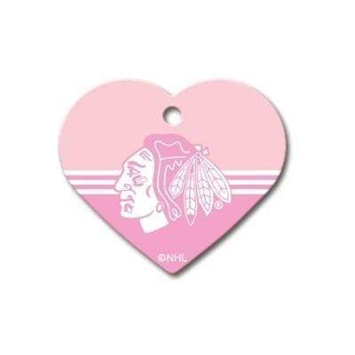 Hillman Group Dog-products NHL Chicago Blackhawks Heart Id Tag