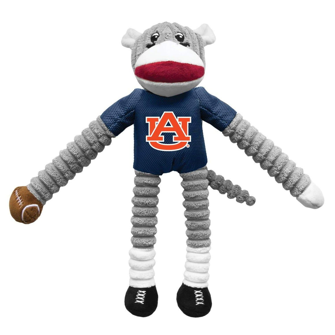 Little Earth Productions Dog-products NCAA Auburn Tigers Sock Monkey Pet Toy