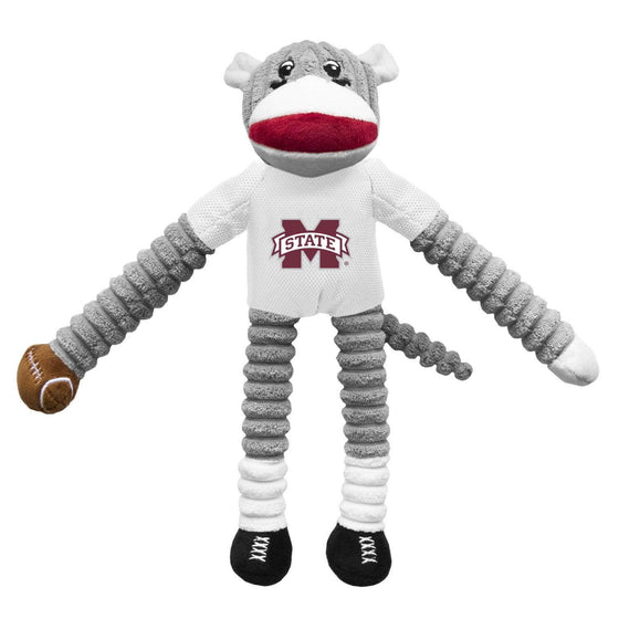 Little Earth Productions Dog-products NCAA Mississippi State Bulldogs Sock Monkey Pet Toy