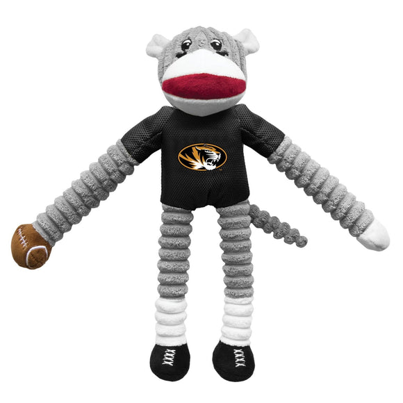 Little Earth Productions Dog-products NCAA Missouri Tigers Sock Monkey Pet Toy