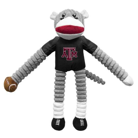 Little Earth Productions Dog-products NCAA Texas A&m Aggies Sock Monkey Pet Toy